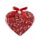 Serce z Mlecznej Czekolady z Truskawkami, Malinami i Miodem 150g