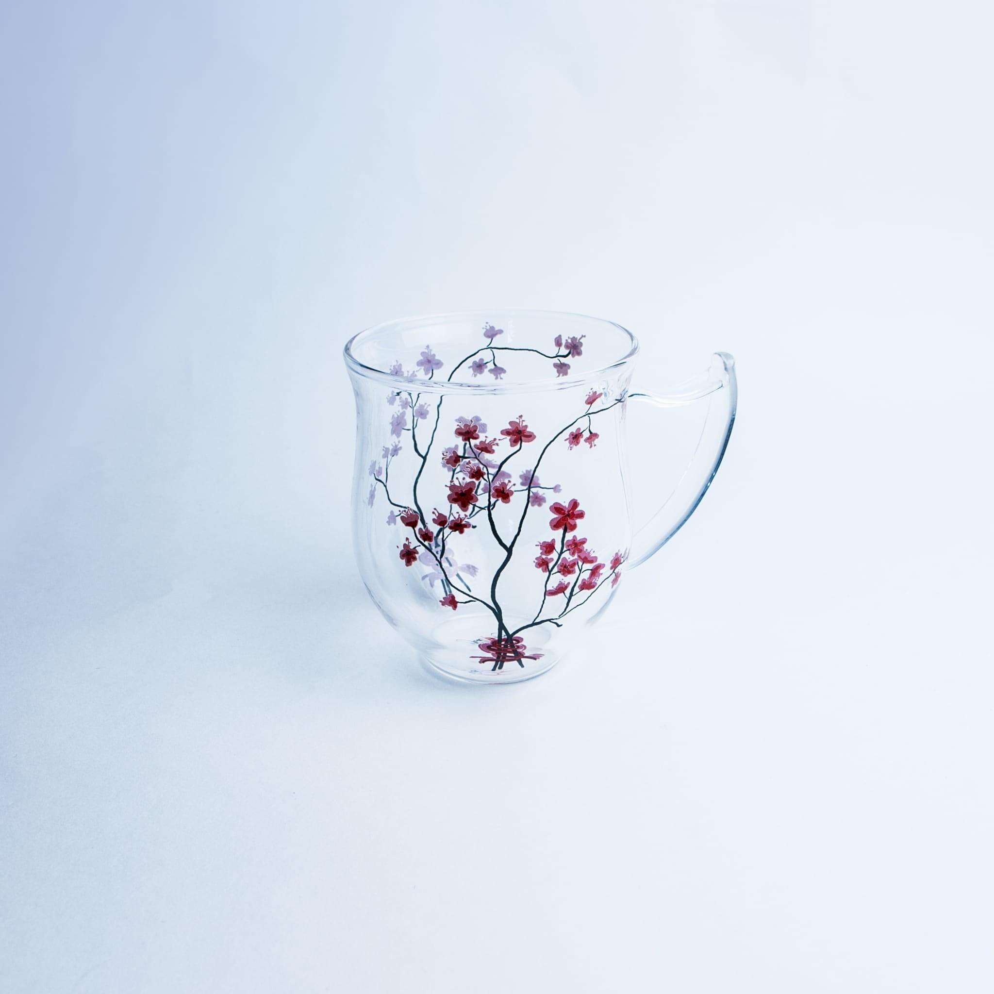 Kubek szklany Cherry Blossom