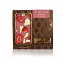 Czekolada Rubinowa z Ananasem i Truskawkami Cortez 85g