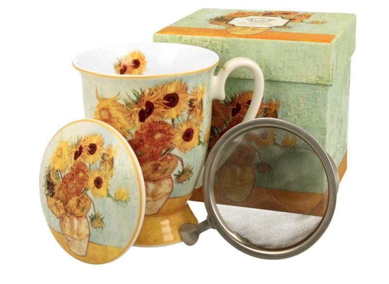 Kubek z Zaparzaczem – Słoneczniki Van Gogh 325 ml
