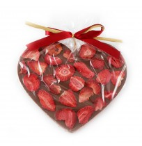 Serce z Mlecznej Czekolady z Truskawkami 150g