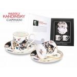 Kpl. 2 filiżanek espresso - Wassily Kandinsky IV