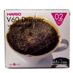 Drip Ceramiczny V60-02 Hario + Miarka do Kawy