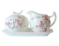 Zestaw Cukiernica i Mlecznik Cherry Blossom